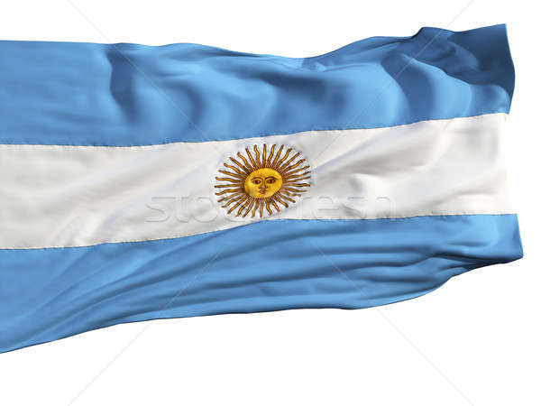 Flag of Argentina, fluttering in the wind Stock photo © Antartis