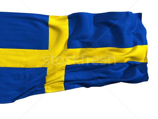 Flag of Sweden, fluttering in the wind Stock photo © Antartis