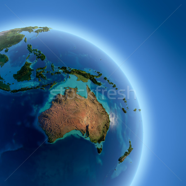 Terra alto sollievo sole Foto d'archivio © Antartis