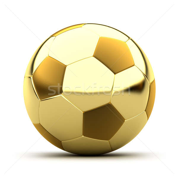 Golden soccer ball Stock photo © Antartis