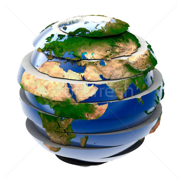 Global quebra-cabeça planeta terra mapa arte ciência Foto stock © Antartis