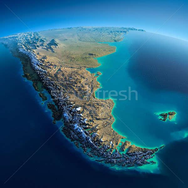 Részletes Föld dél-amerika rendkívül Föld reggel Stock fotó © Antartis