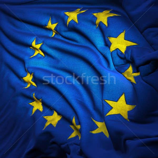 Európai szövetség zászló szellő szél darabok Stock fotó © Antartis