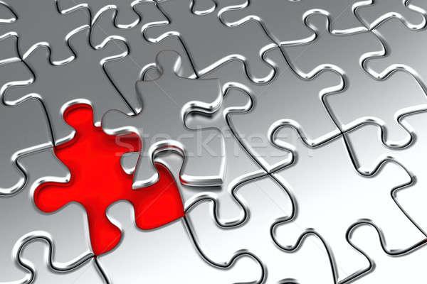 Silver puzzle Stock photo © Antartis