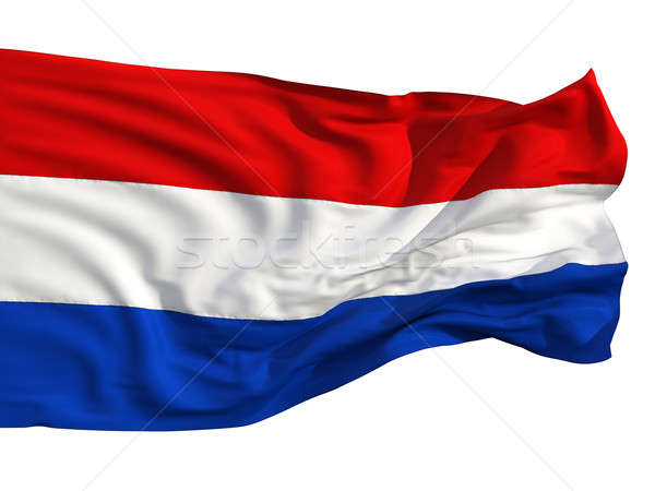 Flag of the Netherlands, fluttering in the wind Stock photo © Antartis