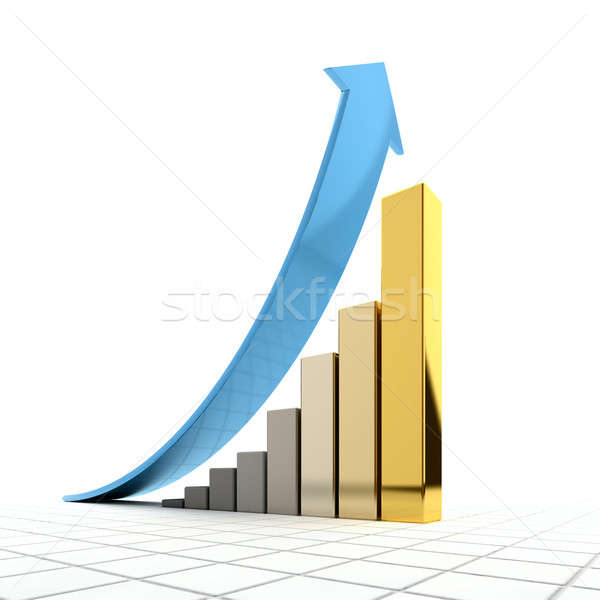 Business graph Stock photo © Antartis