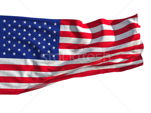 Flag of the United States, fluttered in the wind Stock photo © Antartis