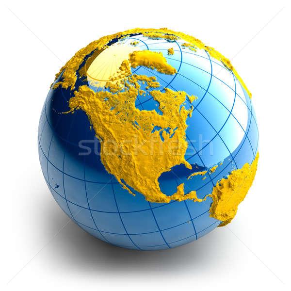Mondo terra sollievo continenti bianco business Foto d'archivio © Antartis