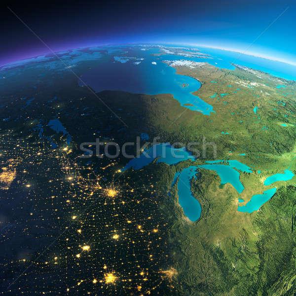 подробный земле Канада планете Земля Сток-фото © Antartis