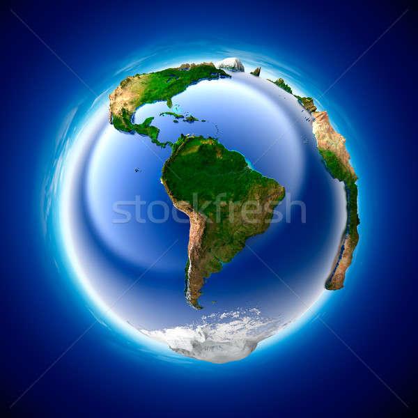 Ökologie Erde Metapher Reinheit Planeten Erde Meer Stock foto © Antartis