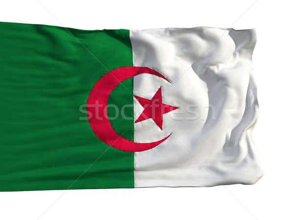 Flag of Algeria, fluttering in the wind Stock photo © Antartis