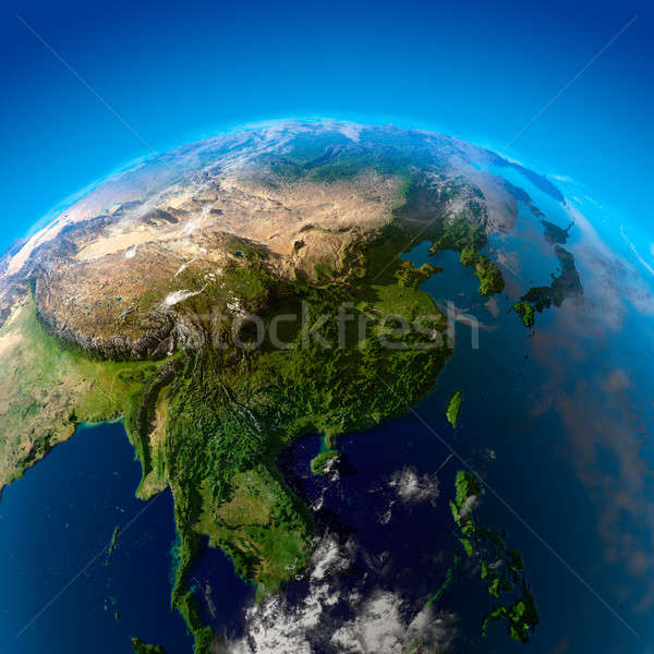 Beautiful Earth - East Asia from space Stock photo © Antartis