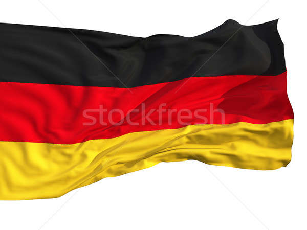 Flag of Germany, fluttered in the wind Stock photo © Antartis