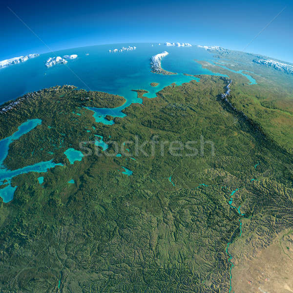 Detailed Earth. European part of Russia Stock photo © Antartis