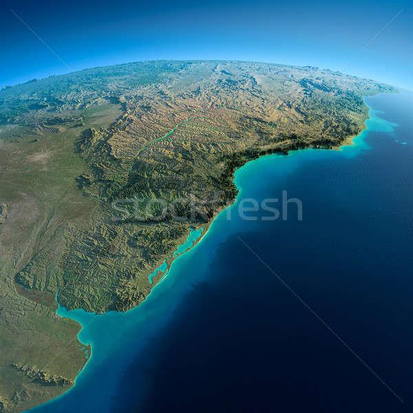 Detallado tierra américa del sur Río Foto stock © Antartis