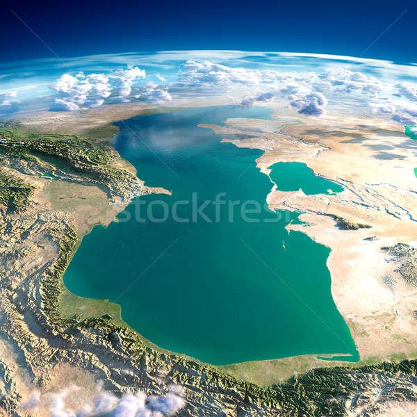 Planeten Erde Meer sehr detaillierte übertrieben Erleichterung Stock foto © Antartis