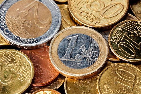 Euro coins closeup Stock photo © Antartis