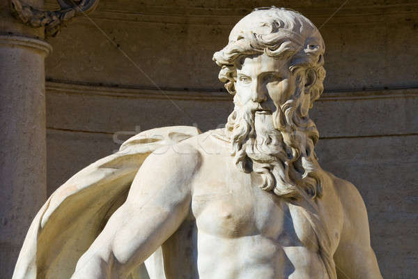 Close up of the Neptune statue of the Trevi Fountain Stock photo © Antartis