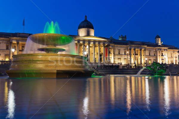 The National Gallery and Trafalgar Square, London Stock photo © Antartis