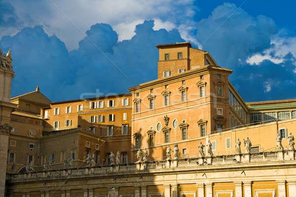 Vatikán palota hivatalos lakás pápa égbolt Stock fotó © Antartis