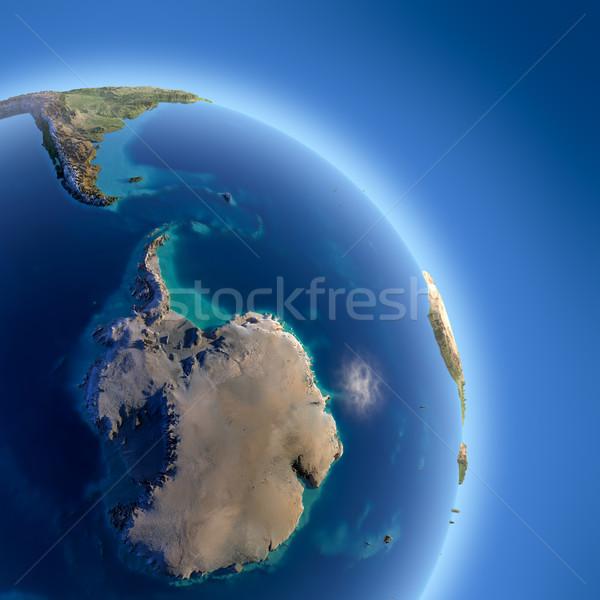 Terra alto alívio sol Foto stock © Antartis
