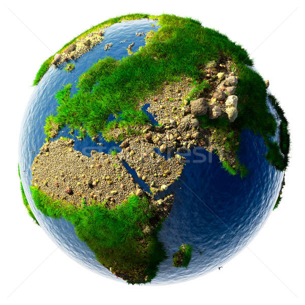 Detailed concept nature of the Earth in miniature Stock photo © Antartis