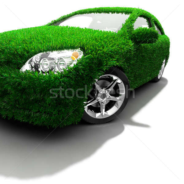 The metaphor of the green eco-friendly car Stock photo © Antartis