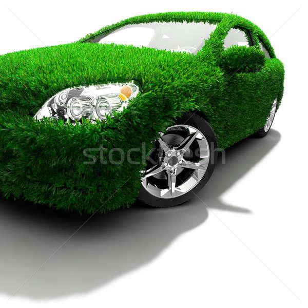 метафора зеленый автомобилей тело поверхность покрытый Сток-фото © Antartis