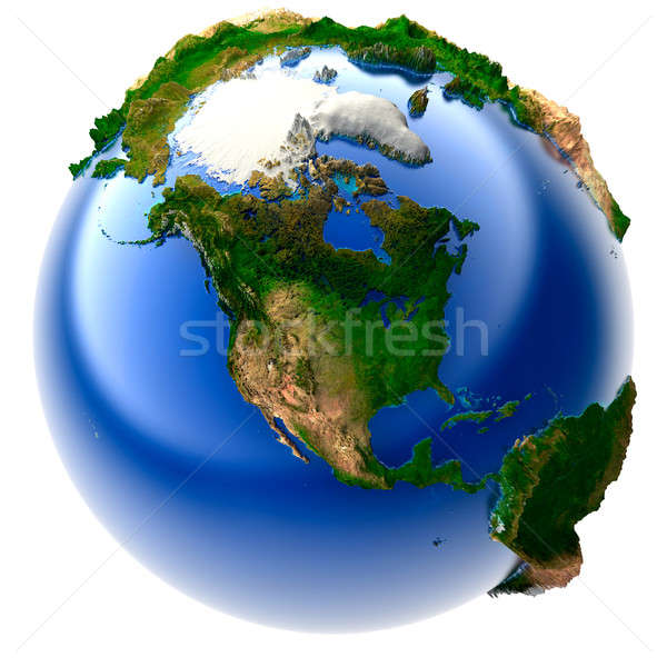 Miniature real Earth Stock photo © Antartis
