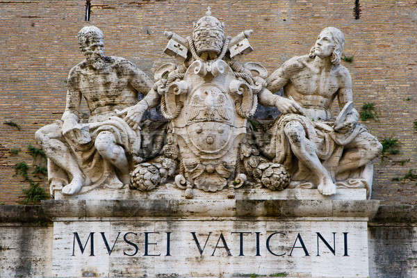 Sculpture on the Museums of Vatican Stock photo © Antartis