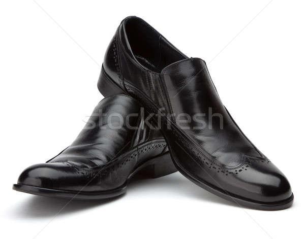 Nero scarpe bianco business moda natura Foto d'archivio © Antartis