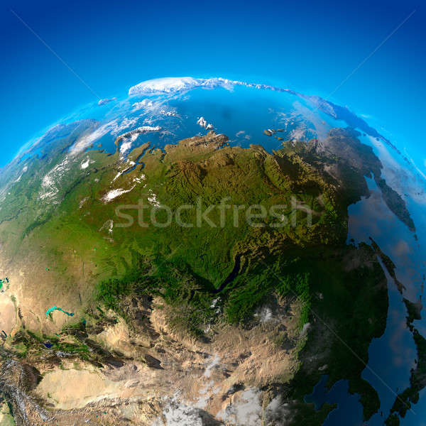 Asia, Far East, Siberia, the view from the satellites Stock photo © Antartis