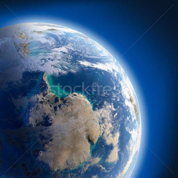 Сток-фото: земле · высокий · рельеф · солнце