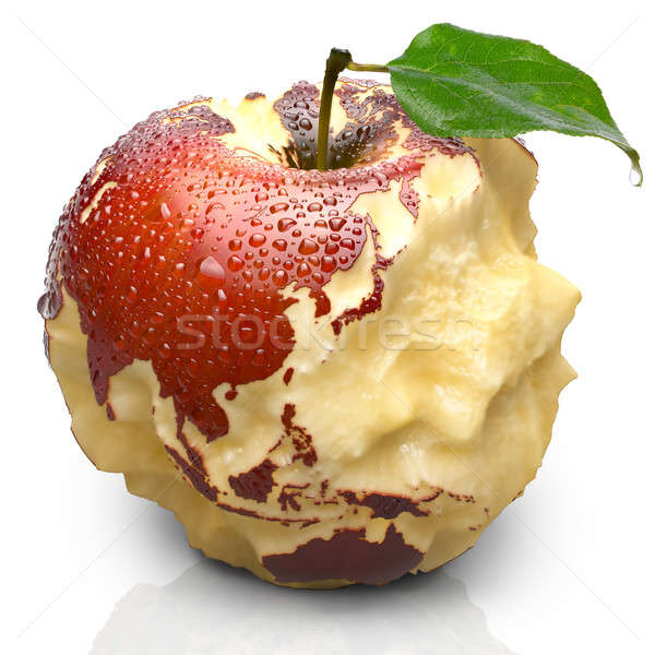 Pomme continents Asie rouge juteuse Photo stock © Antartis