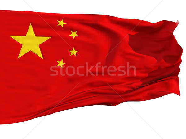 Flag of China, fluttered in the wind Stock photo © Antartis