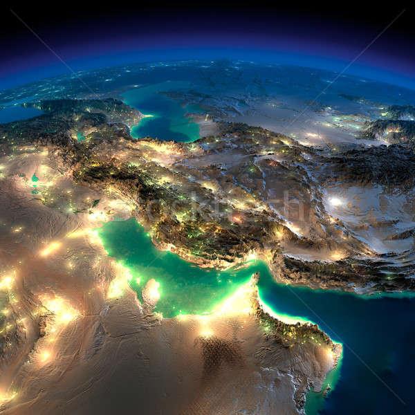 Noc ziemi wysoko szczegółowy Zdjęcia stock © Antartis