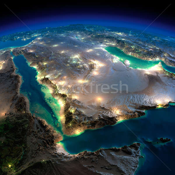 Night Earth. Saudi Arabia Stock photo © Antartis