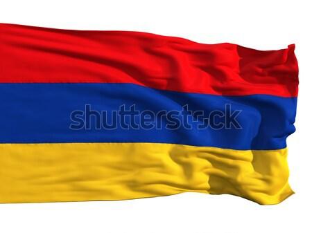 Armenian flag, fluttering in the wind Stock photo © Antartis