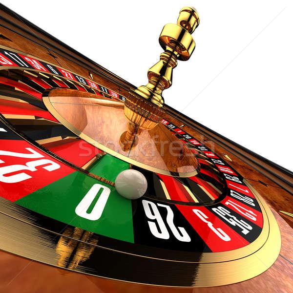 Casino Roulette on white Stock photo © Antartis