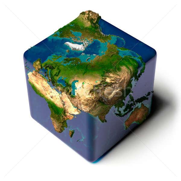 Terra Ocean cubo ombra acqua Foto d'archivio © Antartis