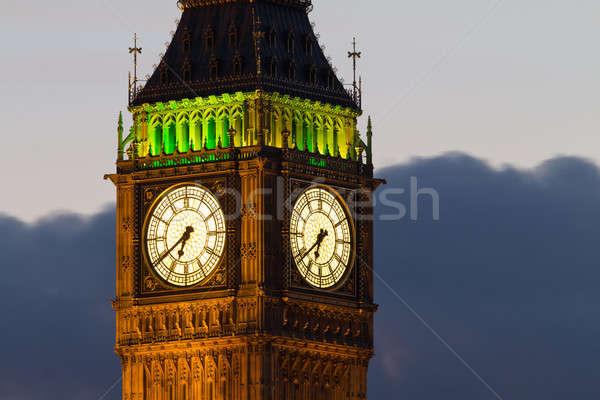 Big Ben. Detail. Evening Stock photo © Antartis