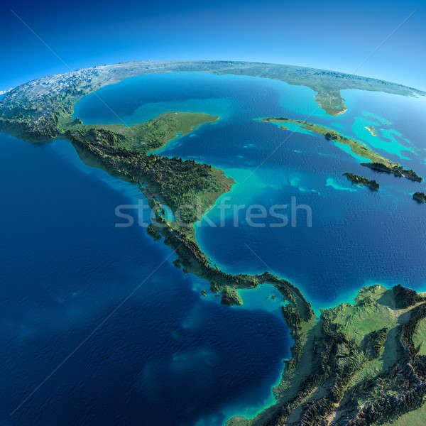Detailed Earth.The countries of Central America Stock photo © Antartis