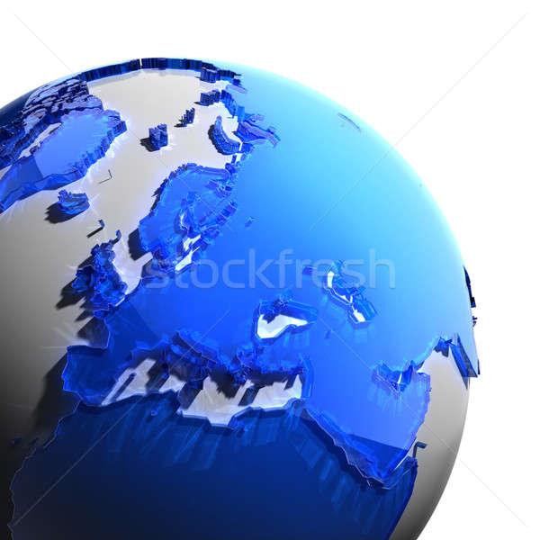 Terra continenti blu vetro mondo Foto d'archivio © Antartis