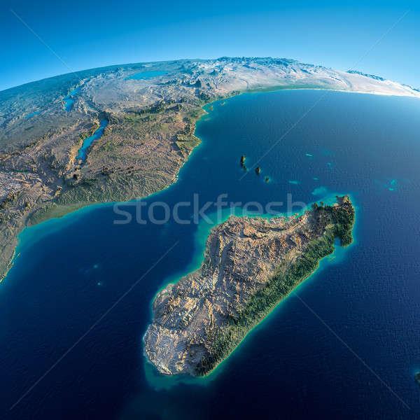 подробный земле Африка Мадагаскар планете Земля Сток-фото © Antartis