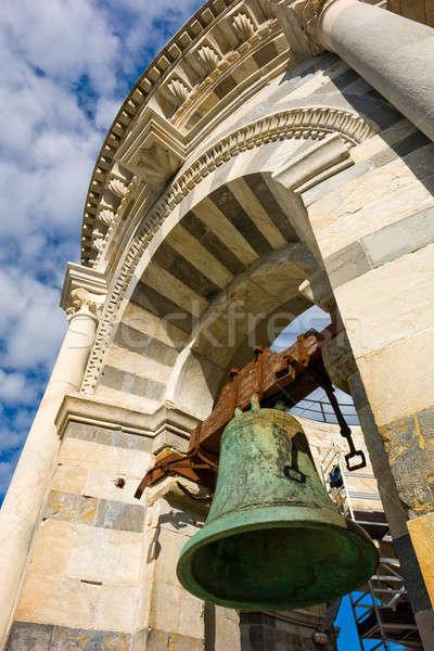 Bell of leaning tower in Pisa Stock photo © Antartis