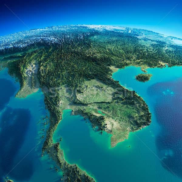 подробный земле полуостров планете Земля утра Сток-фото © Antartis