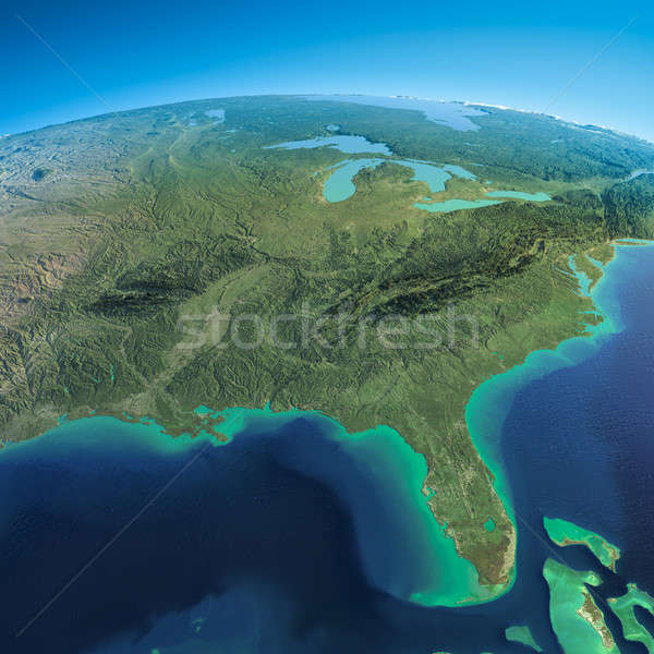 Detailed Earth. Gulf of Mexico and Florida Stock photo © Antartis