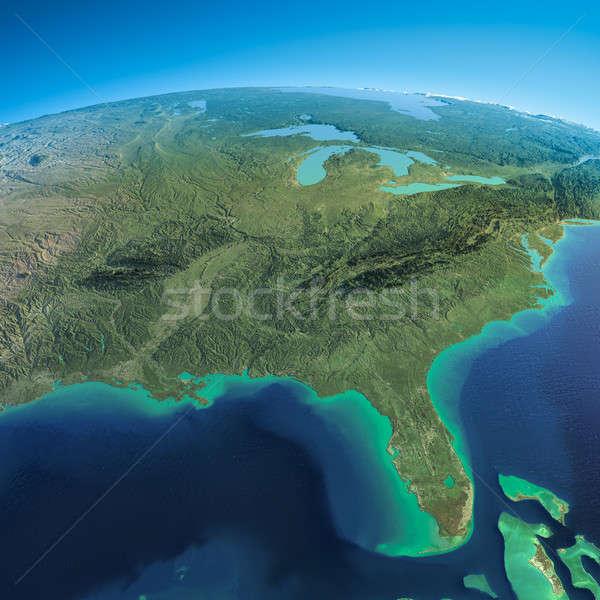 Szczegółowy ziemi Meksyk Florida wysoko Zdjęcia stock © Antartis