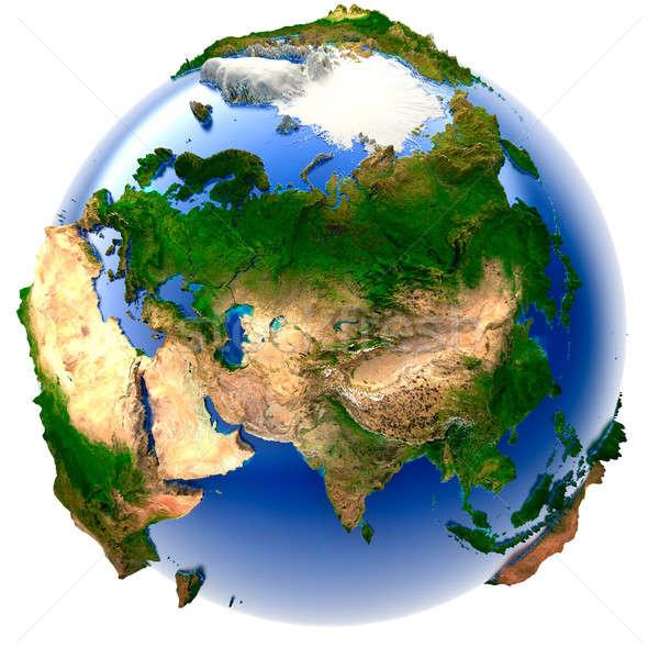 Miniatura real ziemi 3D model świecie Zdjęcia stock © Antartis