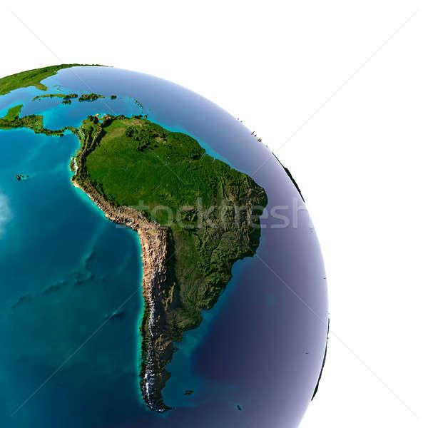 Stock foto: Realistisch · Planeten · Erde · natürlichen · Wasser · Erde · transluzent